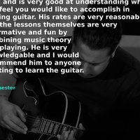 Chichester Guitar Teacher - Masters degree, many years experience, talented gigging musician.